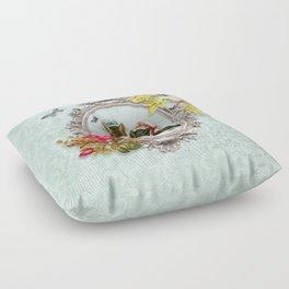 Vintage Design Kittens in the Frame Floor Pillow