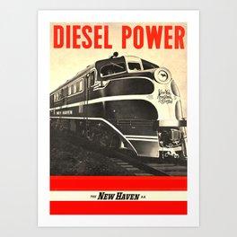 Diesel Power Art Print