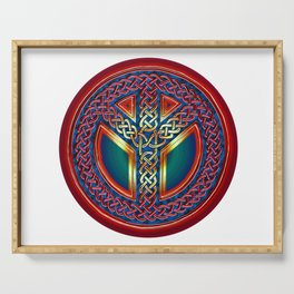 Peace Symbol - Metallic Celtic Knot Serving Tray