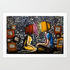 Fixed With Cable Television Art Print