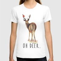 pun T-shirts featuring OH DEER Pun by Amy Chow