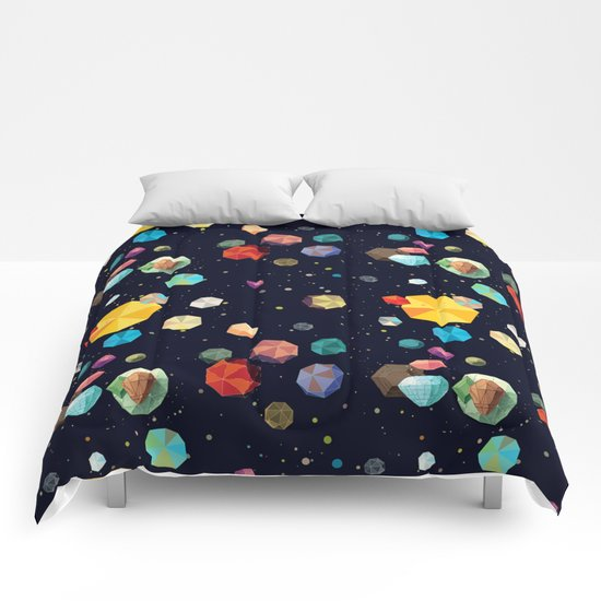 Low Poly Space Comforters