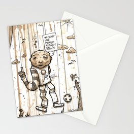 We don't like people without balls Stationery Cards