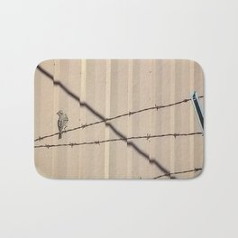Bird on Wire Bath Mat