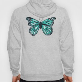 Turquoise Butterfly Hoody