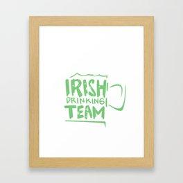 Irish Drinking Team Framed Art Print