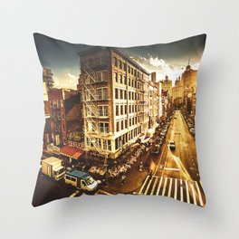 chinatown in nyc at dusk Throw Pillow