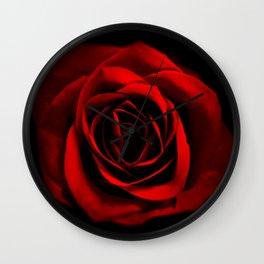 Shadowed Rose Wall Clock