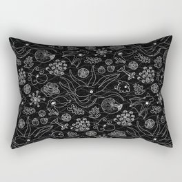 Cephalopods - Black and White Rectangular Pillow