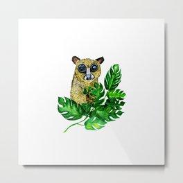 Cute Lemur Watercolor Metal Print