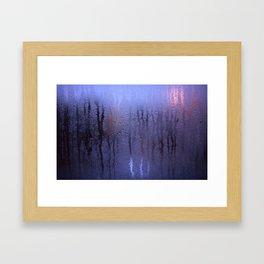 Purple Condensation Framed Art Print