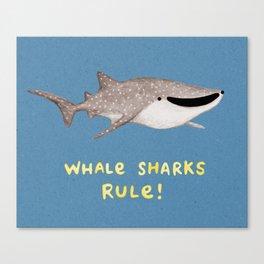 Whale Sharks Rule! Canvas Print