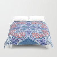 greek Duvet Covers featuring Greek Summer by RED ROAD STUDIO