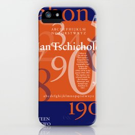 Sabon Typography Poster iPhone Case
