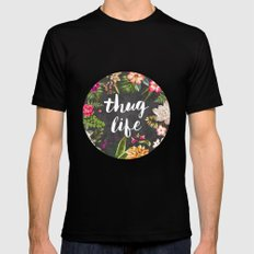 Thug Life Black LARGE Mens Fitted Tee