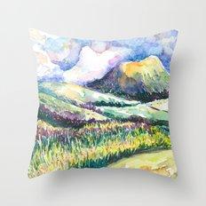 Path to Cloud Mountain Throw Pillow