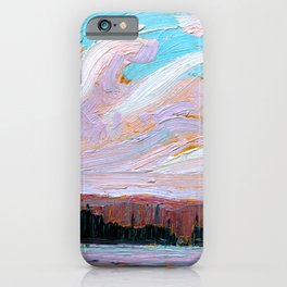 Tom Thomson - Pink Clouds - Canada, Canadian Oil Painting - Group of Seven iPhone Case