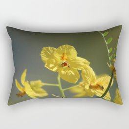 Closeup of Fully Opened Palo Brea Blossom Rectangular Pillow