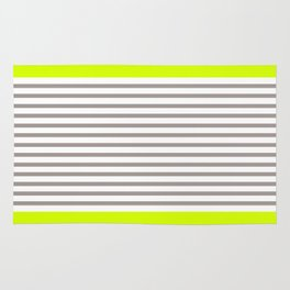 Neon and Grey Stripes Rug