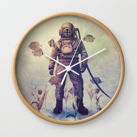 Deep Sea Garden - colour option Wall Clock
