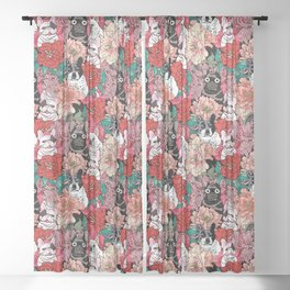 Because French Bulldogs Sheer Curtain