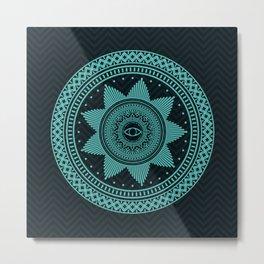 Eye of Protection Mandala Metal Print