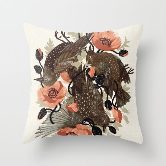 Spangled & Plumed Throw Pillow