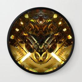 delirium  photo rorschach symmetry Wall Clock