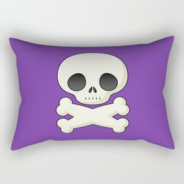 Girly cute skull illustration Rectangular Pillow