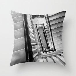 New York stairwell Throw Pillow