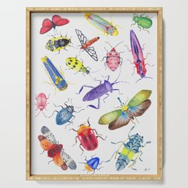 Colorful Bugs and Beetles Collection Serving Tray