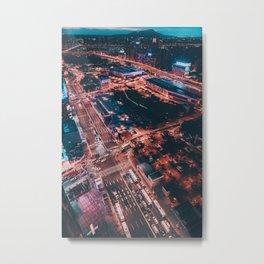 City night lights Metal Print