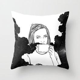 Magical coffee. Throw Pillow