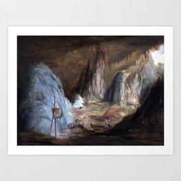 Conrad Martens Stalagmites, Burragalong Cavern Art Print