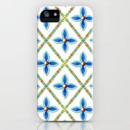 Elizabethan Folkloric Lattice iPhone Case