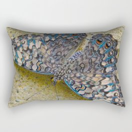Turquoise and Sand Butterfly by Teresa Thompson Rectangular Pillow