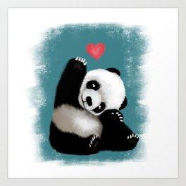 Panda Love (Color) Art Print