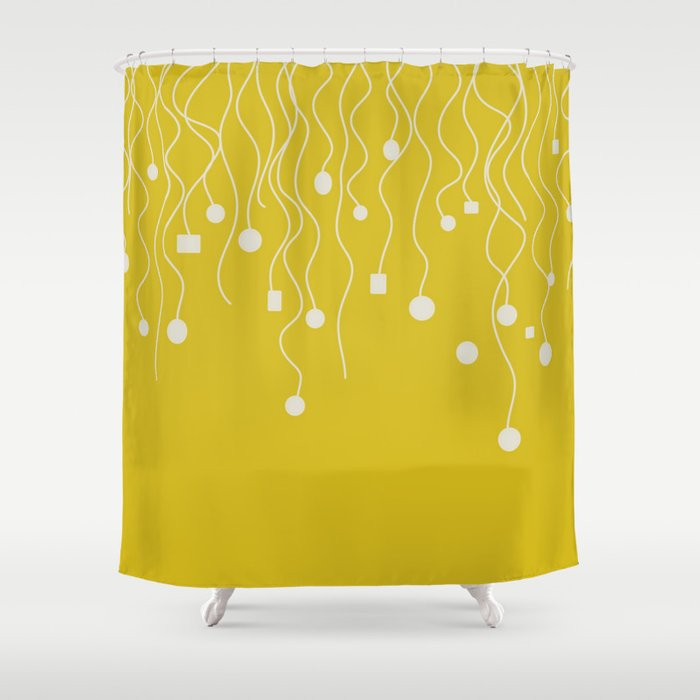 Yellow light Shower Curtain