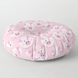 piggy pattern Floor Pillow