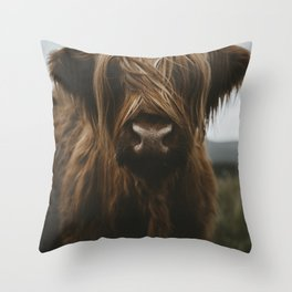 Scottish Highland Cattle Throw Pillow