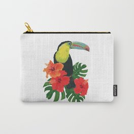 Toucan and hibiscus Carry-All Pouch