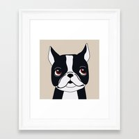frenchie Framed Art Prints featuring Frenchie by Darish