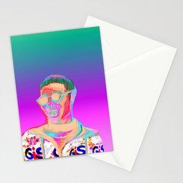 Chromatic portrait Stationery Cards