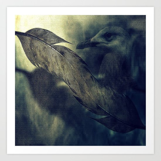 the feathers of freedom Art Print
