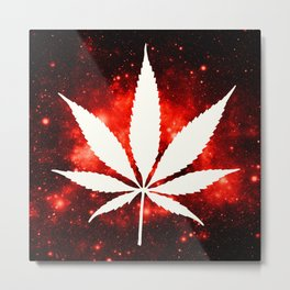 Weed : High Times Red Galaxy Metal Print