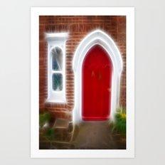 Behind the red door Art Print