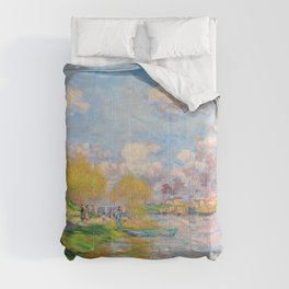 Claude Monet - Spring by the Seine - Digital Remastered Edition Comforters