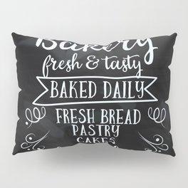 Bakery Chalkboard poster Pillow Sham
