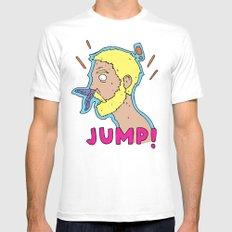 JUMP! Mens Fitted Tee MEDIUM White