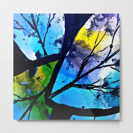 Colorful leaves. A translucent universe full of peace and harmony. Metal Print
